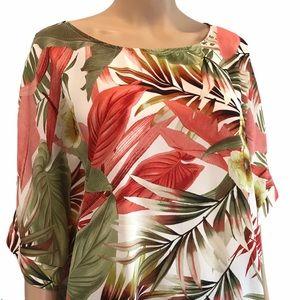 Laura Plus floral short sleeve shirt size 1x